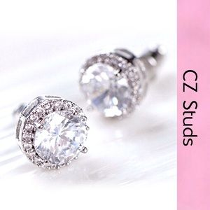 New!!! Brilliant CZ Stud Earrings
